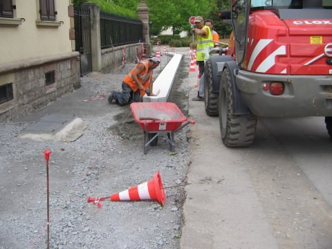 Travaux au centre du village