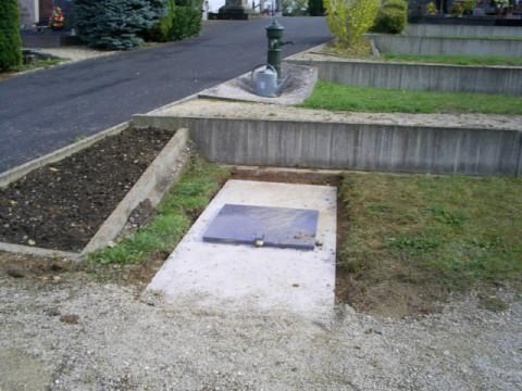 TRAVAUX AU CIMETIERE : CREATION D'UN OSSUAIRE